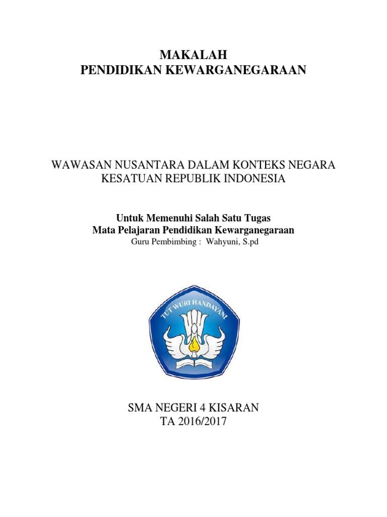 Makalah Wawasan Nusantara