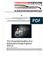 Automotive Design Engineer - The 6 Qualities - Part 2