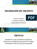 6. Valoración Del Paciente