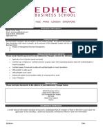 EDHEC Application Checklist
