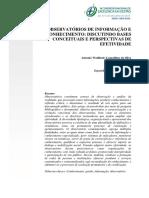 Observatórios de Informação e Conhecimento - Conceitos e Efetividade