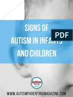 Autism signs in Infants and Children