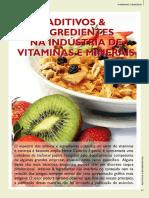 Aditivos e Ingredientes Na Indústria de Vitaminas e Minerais