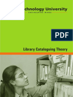 LIVRO - BIBLIOTECONOMIA - Library Cataloguing Theory. - Rai Technology University. PDF