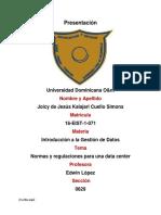 Normas y Regulaciones de Una Data Center