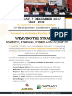 Assembly of States Parties Side Event