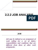2.2.2 Job Analysis (2)