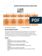 Chemical Department Organizational Structure