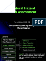 Natural Hazard Risk Assessment (Prof.  Widodo)