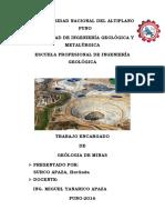 Evaluación Económica de Yacimientos Minerales Minas