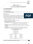 Notes on Capital Structure PDF