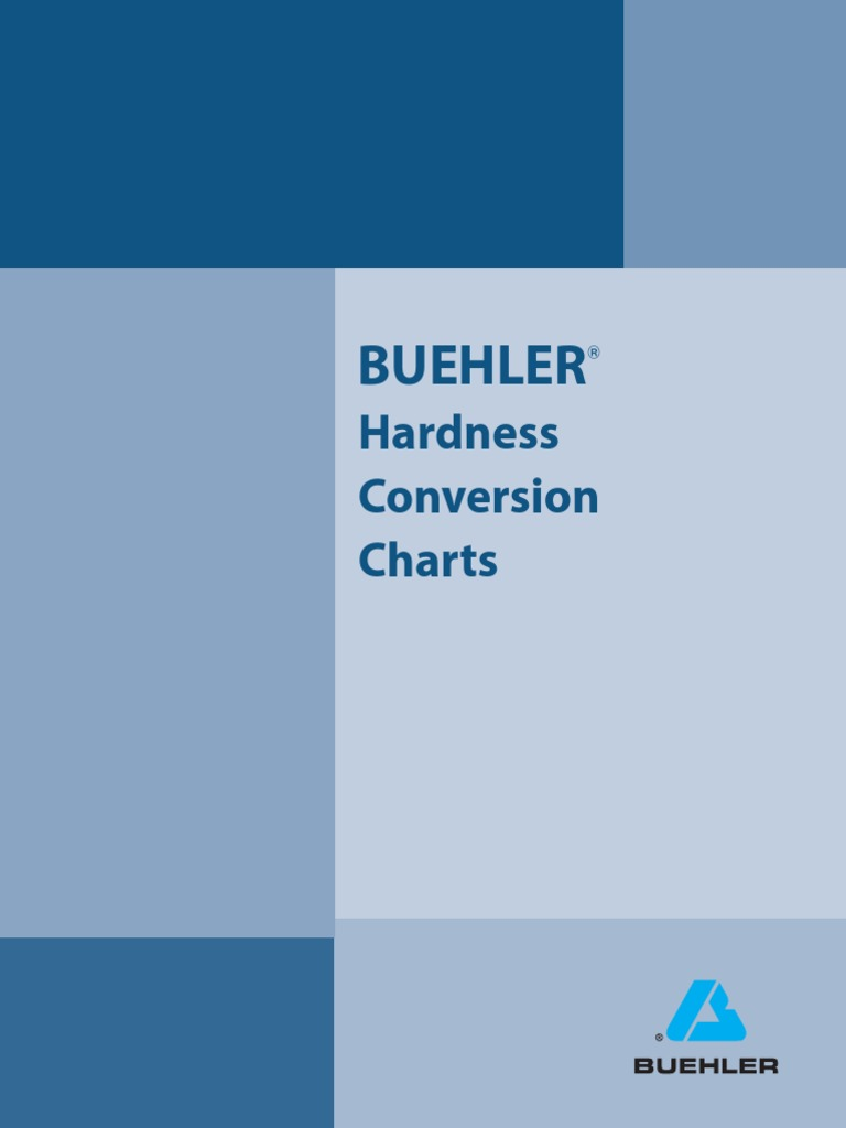 Hardness Conversion Charts Buehlerpdf