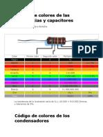 Codigo de Colores y Capacitores