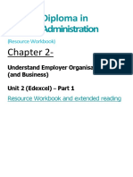 BA Chapter 2 Understand Employer Organisations Resource Workbook