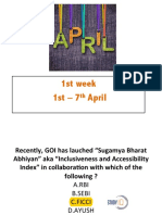 April 1st Week Current Affairs