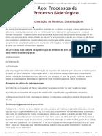01 - Processos de Aglomeração de Minérios_ Sinterização e Pelotização _ Processo Siderúrgico _ Aço_ Processos de Fabricação _ Aços & Ligas _ Infomet