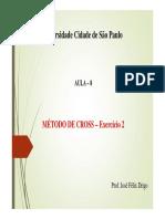 08 Aula - Metodo de Cross - Exercício 2