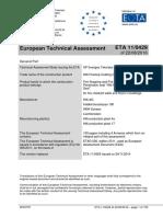 Agrement Vopsea Antifoc CFS CT & Panou Vopsit Antifoc CFS CT-B