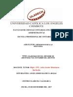 Elaboracion Del Informe de Auditoria y El Dictamen Del Auditor