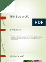 Tejas y Ladrillo de Arcillaa