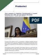 Que Perpetro La Ilegitima Constituyente Al Asumir Funciones de La an Por Jose Ignacio Hernandez