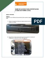 Manual Para La Exportacion de Grabacion Del DVR