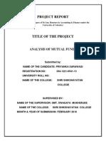 Mutual Fund Final by Priyanka
