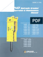 Jisung Hydrahulic Breaker Operation & Maintenance Manual