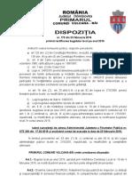 DISPOZITIA NR. 179 pentru rectificarea bugetului local pe anul 2016.doc