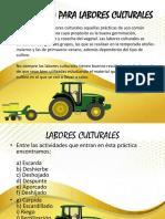 4A.- Maquinaria de Labores Culturales