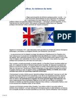 2017-Déclaration Balfour, La Violence Du Texte