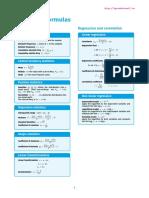 Statistics Formulas Cheatsheet