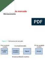 Economia Aula - Estruturas de Mercado