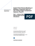 Explicit Finite Element Modeling of Multilayer Composite Fabric for Gas Turbine Engine Containment