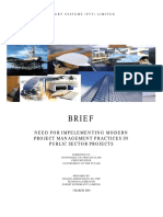 Brief on Project Management Issues 2003