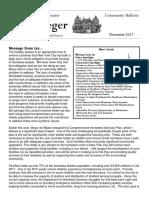 Senator Krueger's Community Bulletin - December 2017