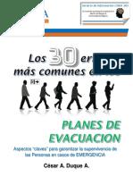 Los 30 Errores Mas Comunes en Planes de Evacuacion - CESAR DUQUE - Version eBook Julio 2017