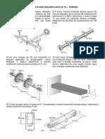 Lista Mecânica dos sólidos - Torção