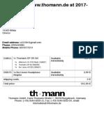 Print Out Order - Thomann Greece
