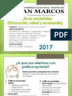 POLITICAS SECTORIALES