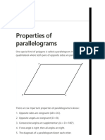 Properties of Parallelograms (Geometry, Quadrilaterals) – Mathplanet