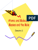 3c atomic and molecular masses and the mole