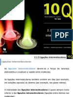 2.1.3 Ligações Intermoleculares 10º