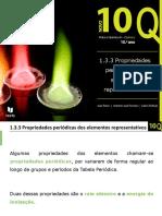 1.3.3. Propriedades Periódicas Dos Elementos Representativos 10º