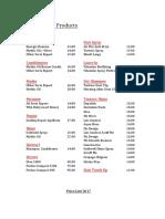 l'Oreal Price List