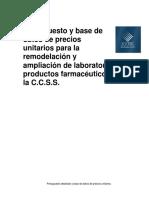 Presupuesto Base Datos Ccss COLOMBIA