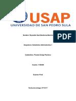 Examen Final Estadistica 1