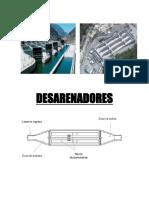 Desarenadores Obrras Hidraulicas Informe