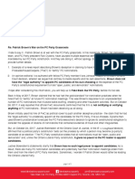 Take Back Our PC Party Letter