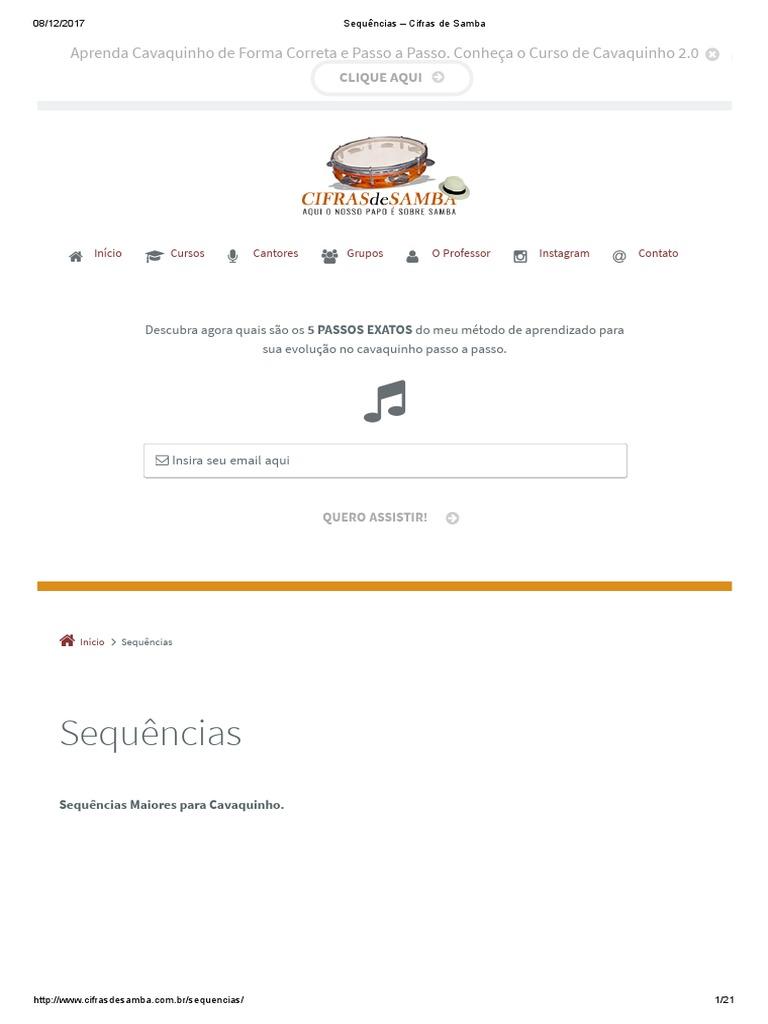 9dc9680d95821 Sequências – Cifras de Samba